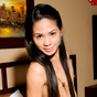 Karen. Karen is a tiny tranny from Manila. She loves how her long hair drapes over her erect nipples, emphasizing her engorged cock pointing straight up.
