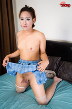 Boom booming  boom is a 22 years old short hairy tranny from bangkok  she has a libidinous body pleasant face with pleasant make up skills cute hormone tits and a hot dick with a pretty large foreskin  she is a true versatile. Boom is a 22 years old, short hairy tgirl from Bangkok. She has a exciting body, lovely face with nice make up skills, good hormone boobs and a hot tool with a nice large foreskin. She is a true versatile.